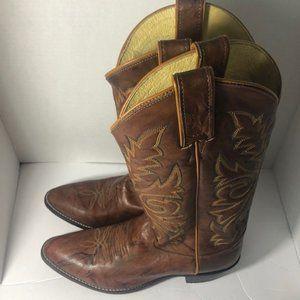 Justin Boots Deerlite Chestnut  JFlex Western Boot
